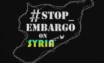 Gezien de coronavirus vragen we de intrekking van het economische embargo tegen Syrië