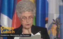 Chiara à l'Unesco, Prix pour l'Education à la Paix, 1996