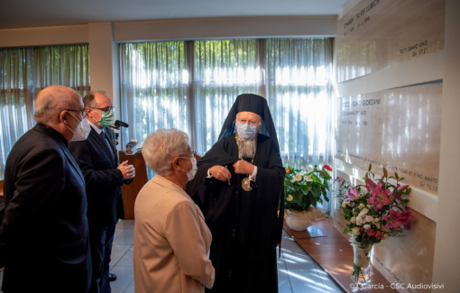 Le Patriarche Oecuménique Bartholomée Ier de Constantinople en visite au Centre international des Focolari