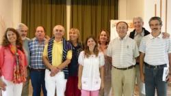 Con la comisión del Movimiento Políticos por la Unidad. Horacio es el segundo de la izquierda.