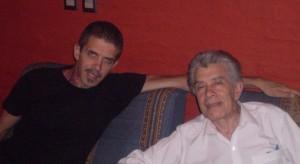 Con su hijo Alejandro