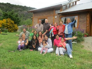 Con familiares y amigos en Lago Puelo Chubut)