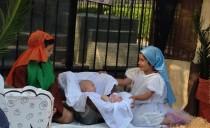 Pesebre ecuménico en la plaza