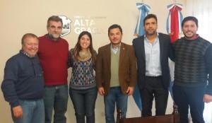 Desde la izquierda: Blanco, García, Laura Blanco, Castillo, Torres y Martínez