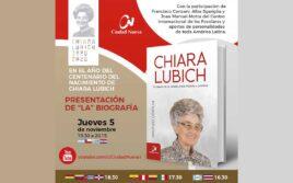 Presentación del Libro: Chiara Lubich, el camino de la unidad, entre historia y profecía