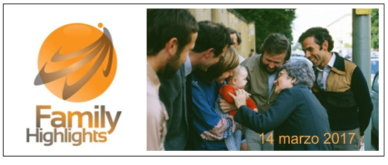 """Brochure con programma: """"Da Chiara Lubich una luce per la famiglia"""""""