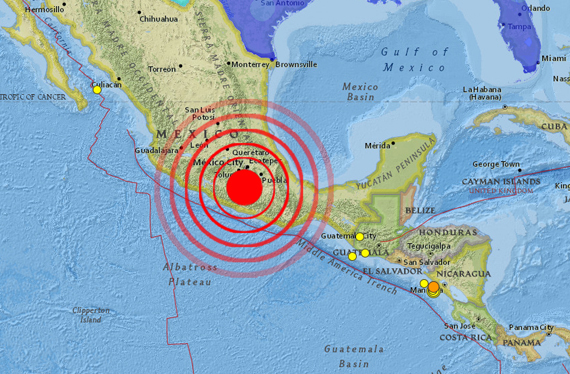 Another earthquake in Mexico