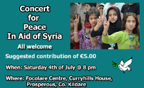 Concert for peace in aid of Syria