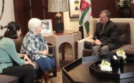 El Rey de Jordania recibe a la presidente de los Focolares