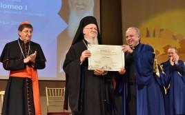 Doctorat h.c. en Culture de l'unité conféré au Patriarche œcuménique Bartholomée Ier