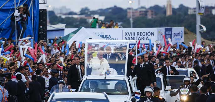Paraguay: our thanks to Pope Francis