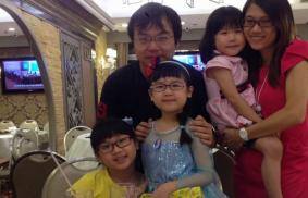 A family in Hong Kong