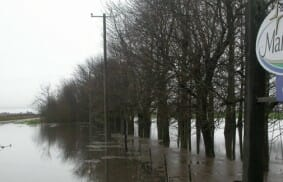 Argentina: Mariapolis Lia covered in water