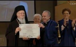 Doutorado h.c. em Cultura da Unidade ao Patriarca Ecumênico Bartolomeu I