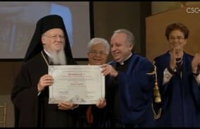 Honorary Doctorate in the Culture of Unity awarded to Patriarch Bartholomew I
