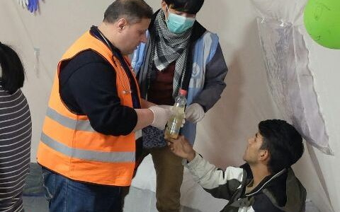 A Syrian doctor at the refugee camp