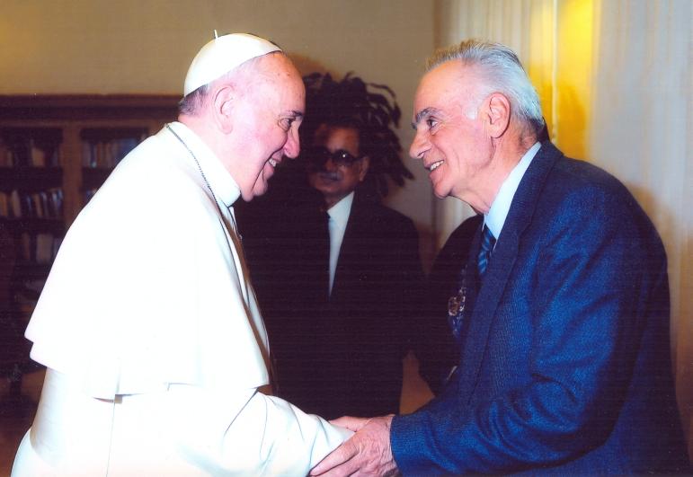 Azir con Papa Francesco