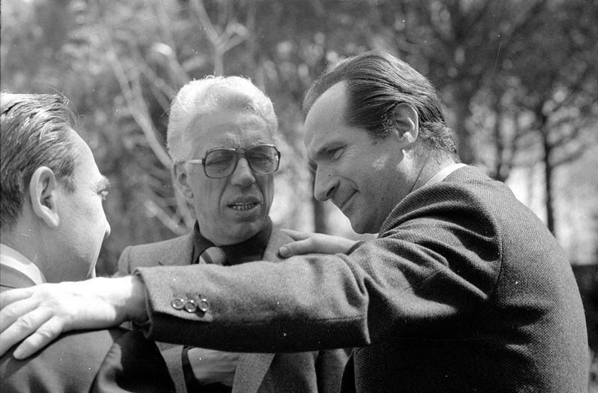 Giorgio Marchetti (destra) con Gino Bonadimani e Aldo Stedile.