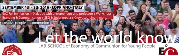 LAB-SCHOOL di Economia di Comunione per giovani