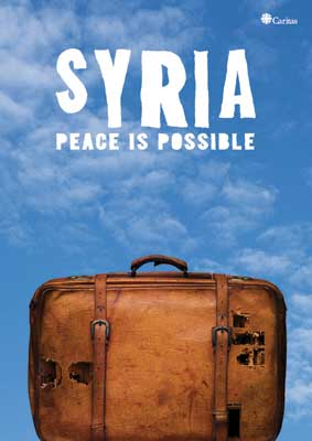 Syrian artist, Tammam Azzam's artwork for Caritas 'Syria: Peace is Possible' campaign