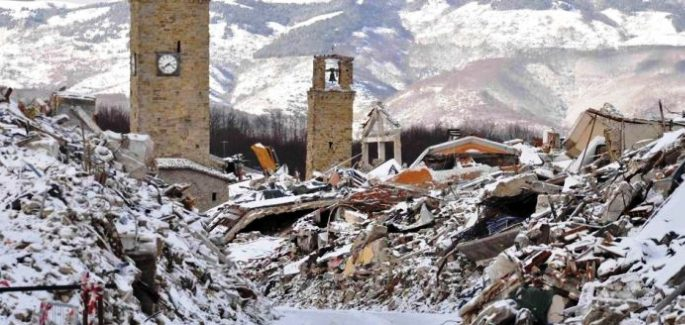 Snow and Earthquake in Central Italy