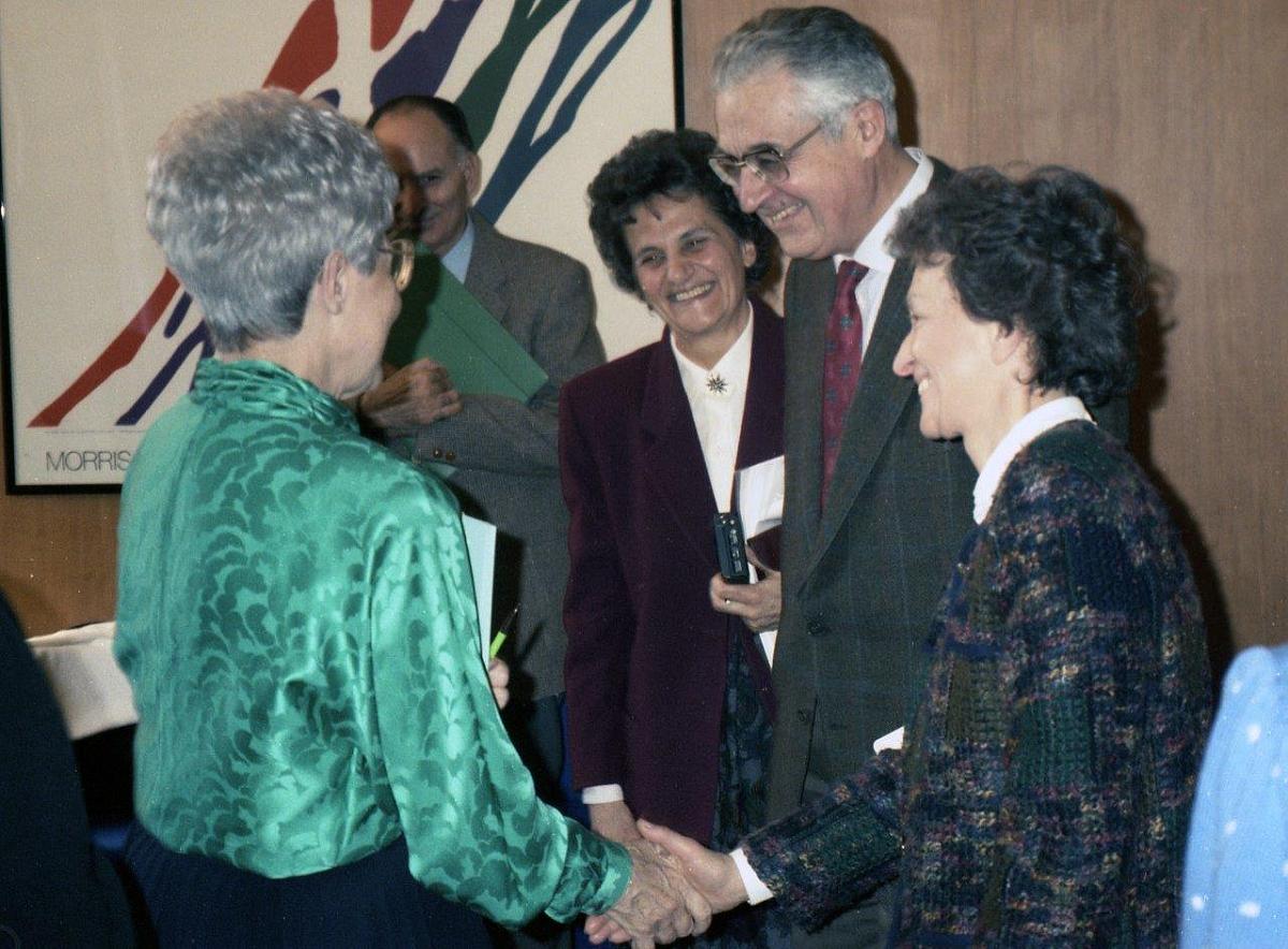 Chiara Lubich con A e D Zanzucchi e G Fumagalli