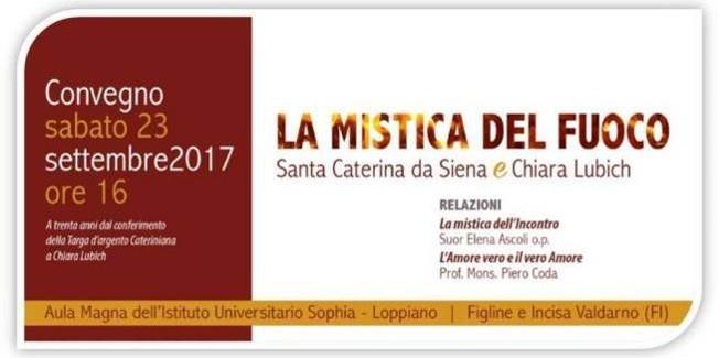"""""""La Mistica del Fuoco in Caterina e Chiara"""""""