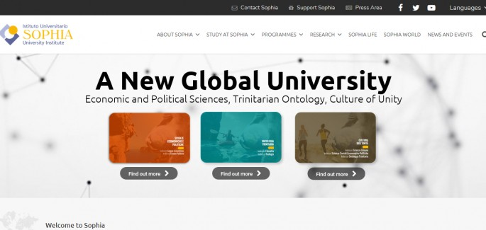 Sophia University's New Website