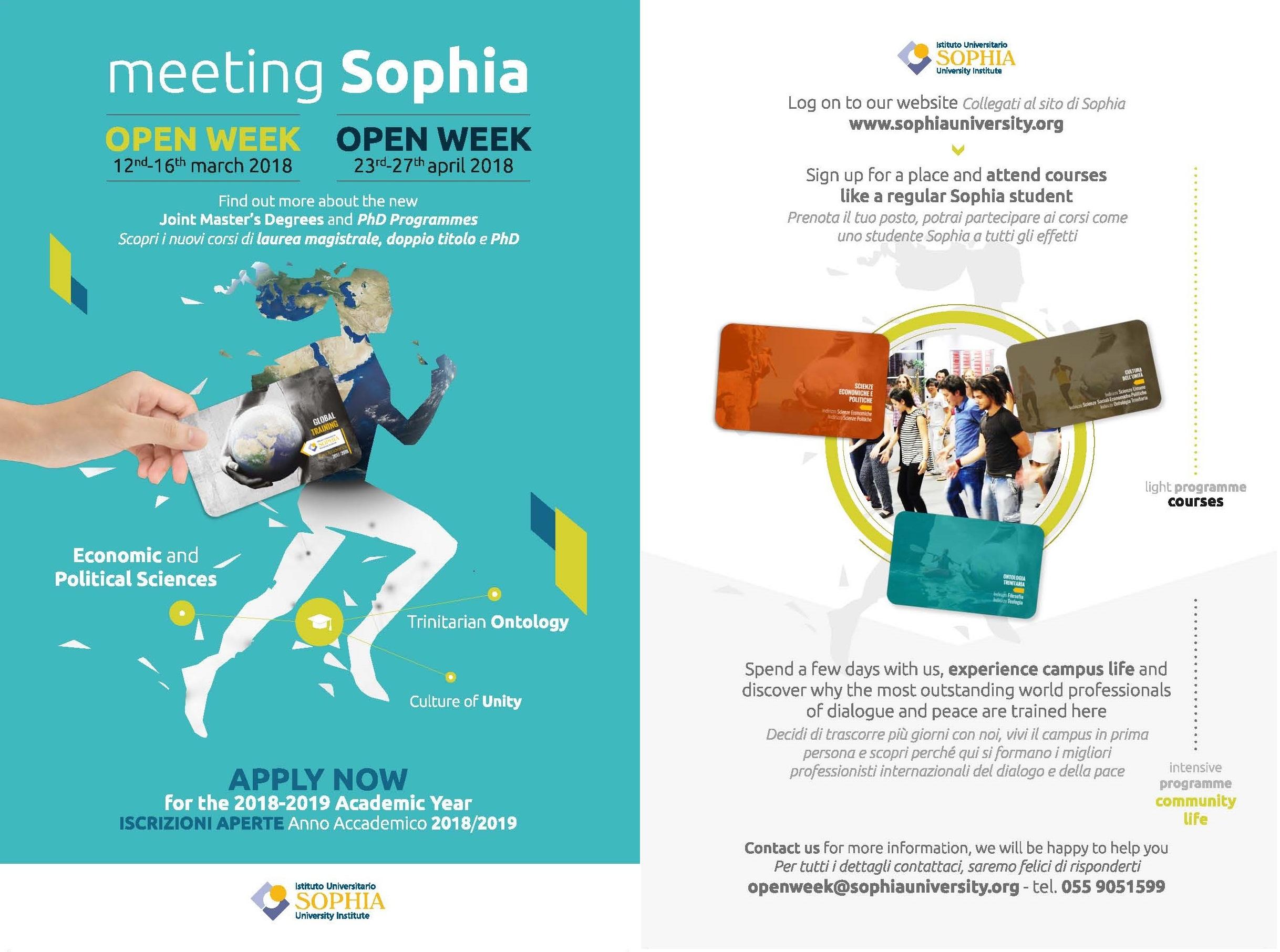 OPEN WEEK Sophia
