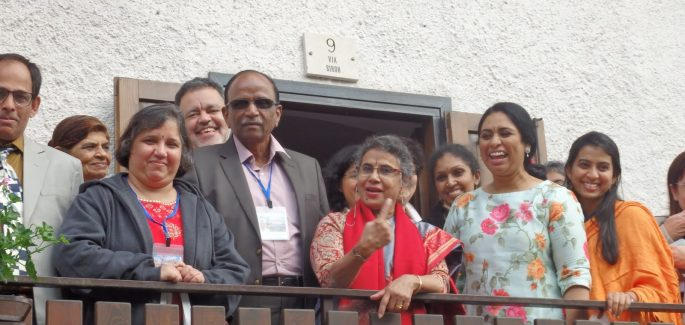A Tonadico avec des amis Hindous
