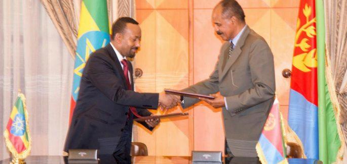 Peace agreement between  Ethiopia and Eritrea