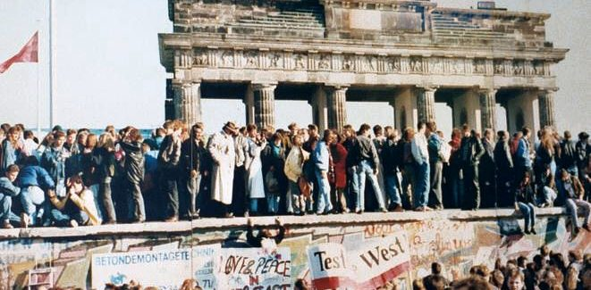 The fall of the Berlin wall, 29 years ago