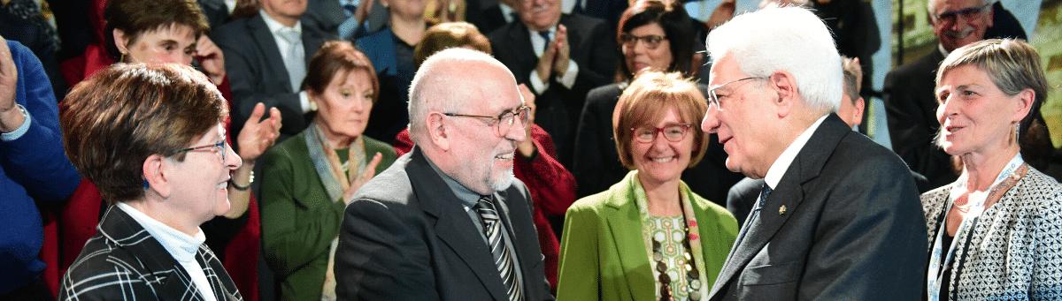 Italia, Trento: El Presidente de la República italiana con motivo del centenario de Chiara