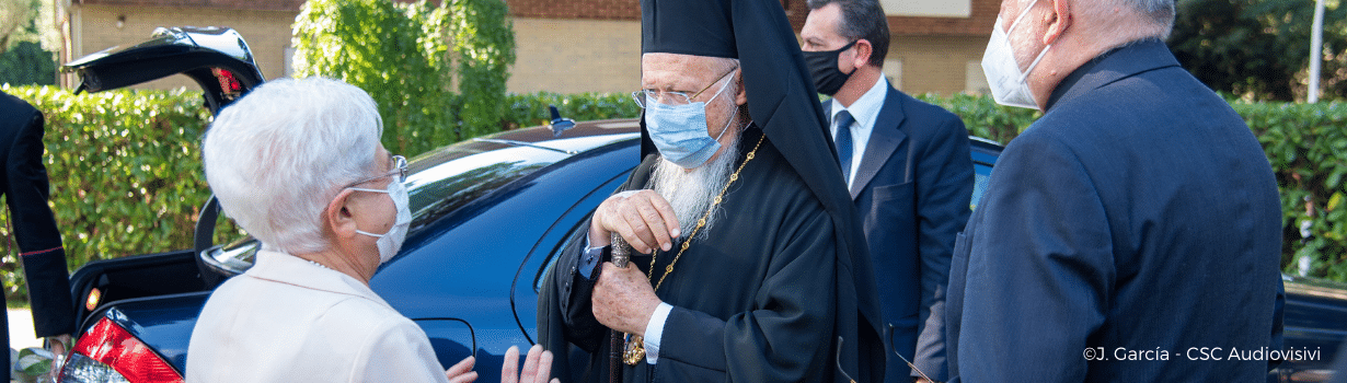 Bartolomeo I, Ecumenical Patriarch of Constantinople visits the international Centre of the Focolare