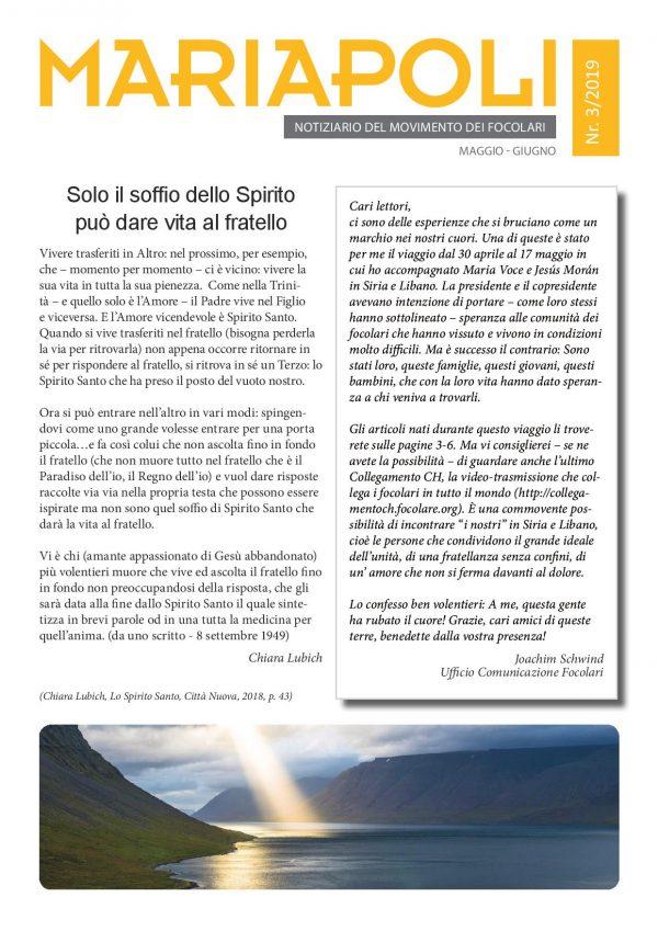 Notiziario Mariapoli 3/2019
